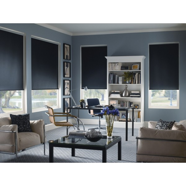 Blackout shades verti store shade o matic altex for Altex decoration